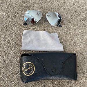 Ray-Ban RB3025 AVIATOR MIRROR SILVER GLASSES